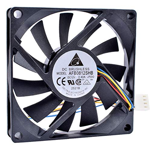 N / A AFB0812SHB-F00 8cm 8015 80x80x15mm Fan DC12V 0.40A 4-Line pwm Ultra-Thin Chassis CPU Large Air Volume Cooling Fan