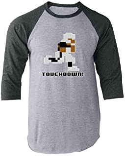 Tecmo Bo 8-Bit Retro Video Game Gamer Football Raglan Baseball Tee Shirt