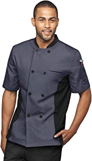 Men's Chef Coat with Mesh Side Panels (S-3X, 6 Colors)