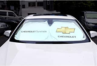 OYADM Car Windshield Sun Shade - Blocks UV Rays Foldable Sun Visor Protector, Sunshade to Keep Your Vehicle Cool Damage Free,for Chevrolet,