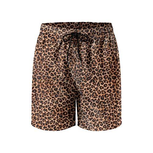 IORTY RTTY Mens Swim Trunks Short Quick-Dry Swim Shorts Mesh Lining Leopard Board Shorts Athletic Gym surf Shorts