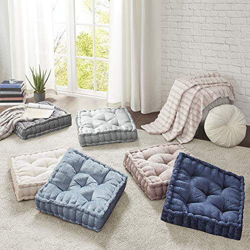 "Intelligent Design Azza Poly Chenille Square Floor Pillow Cushion, 20""x20"