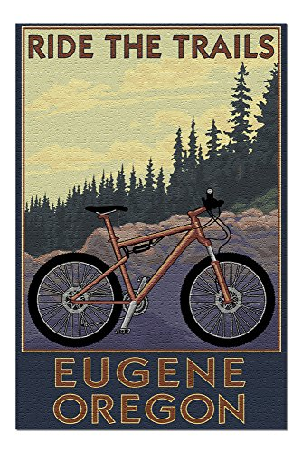 Eugene, Oregon - Mountain Bike 54376 (19x27 Premium 1000 Piece Jigsaw Puzzle for Adults)