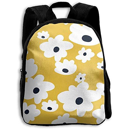 College Bag Zoete Madeliefjes in Mosterd Geel Medium Kinderen Dagtas Rugzak Schoudertas Jongens Boekentas Casual School Print Meisje