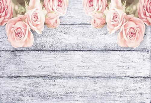 Fondo de Madera para fotografía Flores de Primavera Petal Plank Baby Doll Pet Photozone para Estudio fotográfico Digital Fondo fotográfico A25 10x7ft / 3x2.2m