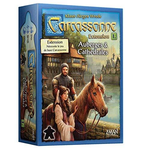 Carcassonne – Extensión Auberges & Catédrales – Asmodee – Juego de Mesa – Juego de Estrategia – Juego de Azulejos