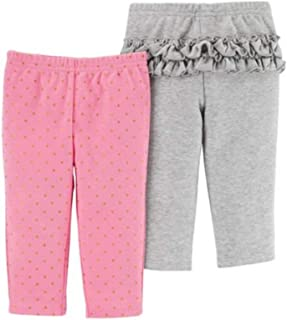 Child of Mine by Carter's Girls Pants 2 Pack (Newborn) Pink