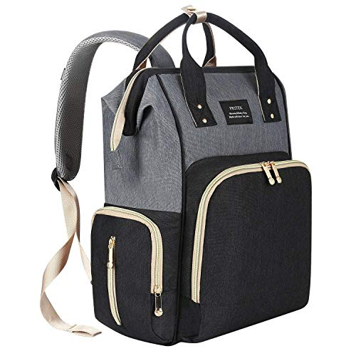 PRITEK Multi-Function Large Capacity Waterproof Diaper Bag, Stylish & Durable