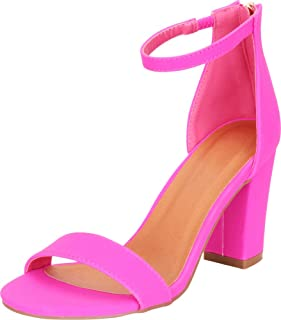 18e3bbe5cc4 Amazon.com: Hot Pink Sandals