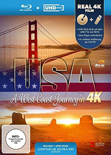 USA - A West Coast Journey (UHD Stick in Real 4K + Blu-ray) - Limited Edition