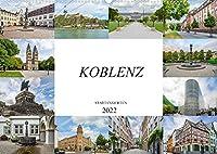 Koblenz Stadtansichten (Wandkalender 2022 DIN A2 quer): Eine wunderschoene Bilderreise durch die einmalige Stadt Koblenz (Monatskalender, 14 Seiten )