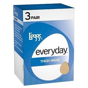 L eggs Womens Everyday Thigh High ST 3 Pair  39300  -Suntan -A