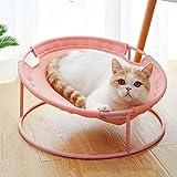 SqSYqz Gato Hamaca Cama de Felpa Suave Grande para Gato o Perro de Juguete Anti Sway Construcción fácil de Montar,Rosado