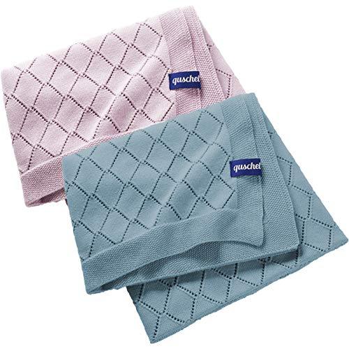 Babydecke/Kuscheldecke Lavendel aus 100% Bio-Baumwolle. Atmungsaktiv, pflegeleicht, kuschelig weich. Größe 80x100 cm, GOTS Zertifiziert.