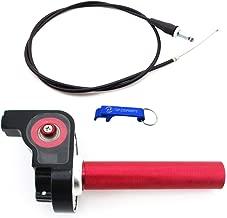 TC-Motor 1/4 Turn 7/8'' 22mm Aluminum Twsit Handle Throttle Cable For 50cc 70cc 90cc 110cc 125cc 140cc 150cc 160cc Pit Dirt Trail Motor Bike XR CRF KLX SSR