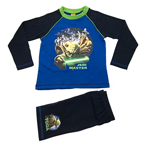 Disney-Star-Wars-Schlafanzug/Pyjama-Set für Jungen - Größe: 4–10Jahre, blau, 10754#23460#04/05