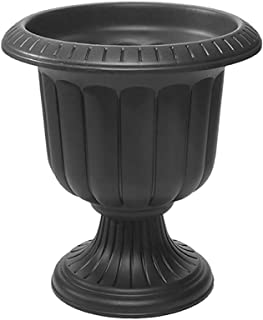 black outdoor flower pots