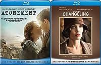 Changeling & Atonement Blu Ray 2 Pack Love & Drama Thriller Movie Set