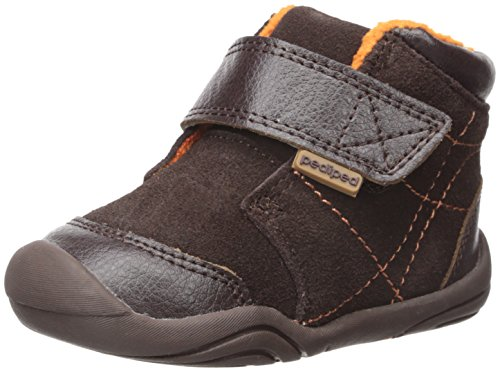pediped Troy Bootie (Infant/Toddler), Chocolate, Large/5.5-6 E US Infant