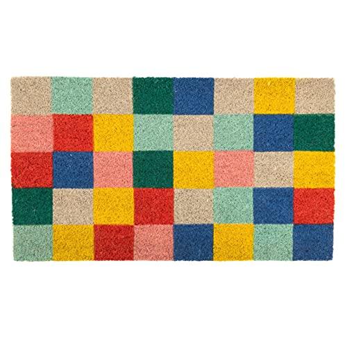 Felpudo Summer Squares de Cuadrados Multicolor.