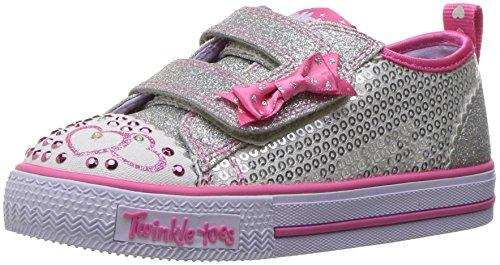 Skechers Shuffles-Itsy Bitsy, Zapatillas para Niñas, (Silver Sequin T