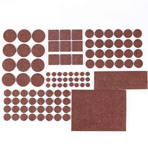 FOGAWA 106 PCS Protectores para Patas de Mesa Almohadillas de Fieltro Adhesivo Fieltro Patas Sillas para Muebles Set de Tamaño Diferentes Formas Protector de Patas para Sillas Mesas Suelo