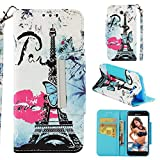 Case for Galaxy J3 2017/J3 Prime/J3 Emerge/J327,Pu Leather Wallet Case with Wrist Strap & Magnetic Closure Inner TPU Bumper Compatible with Samsung Galaxy J3 (2017)/J3 Prime/J3 Emerge/J327 -Lip Tower