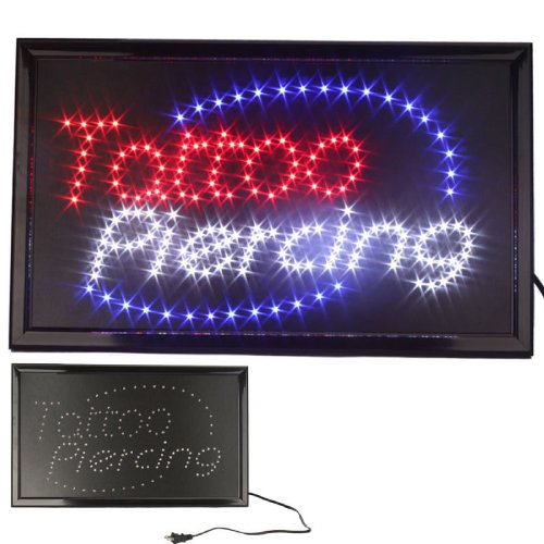 UbiGear 10 19 inch Animated Motion LED Business Tattoo Piercing Shop Sign Switch Open Light Neon