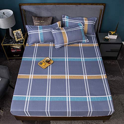ボックスシーツ 枕カバー 3枚セット ダブル 140*200*30 枕カバー 63*43 マットレスカバー ベッドシーツ(デザインG, ダブル)