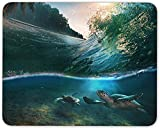 N/A Underwater Turtles Mouse Mat Pad - Tortoise Scuba Diving Gift PC Computer #8319