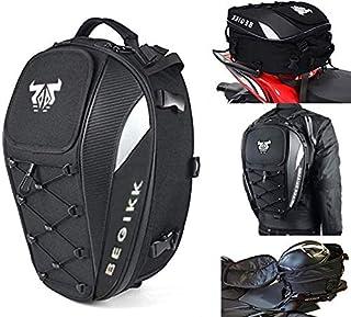 Motorcycle Tail Bag Seat Helmet - 38L Motorcycle Backpack Waterproof Luggage Bags Waterproof Luggage Bags Motorbike Helmet...