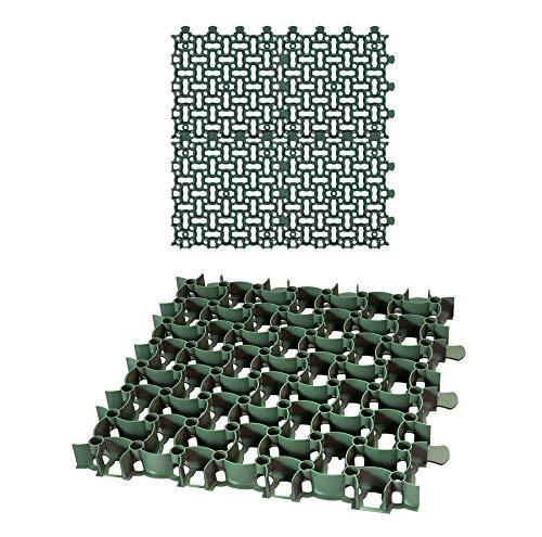 4x Rasengitter Paddockplatte 50x50 cm Reitplatzmatten Rasenmatten Rasenwaben Kiesgitter Parkplatzrasen 1 m²
