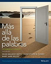 Annotated Instructor's Edition of Mas Alla de Las Palabras Intermediate Spanish, Third Edition with Accompanying Audio Registration Card