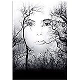 Shmjql Kunst in der Natur Gesicht Kunst Filmdruck Seidenplakat Home Wanddekoration Home Wohnzimmer...