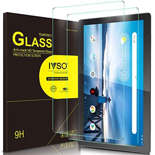IVSO Bildschirmschutz für Lenovo Tab M10 HD(TB-X505L TB-X505F)/ M10 (TB-X605L TB-X605F), 9H Festigkeit, 2.5D, Bildschirmfolie Schutzglas Bildschirmschutz Für Lenovo TAB M10 2018, (2 x)