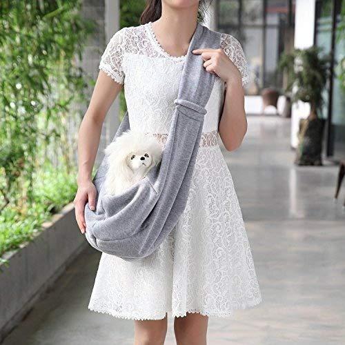 Fengh Portable pour animal domestique Chien Chiot Sac extérieur Sac à bandoulière _ Gray