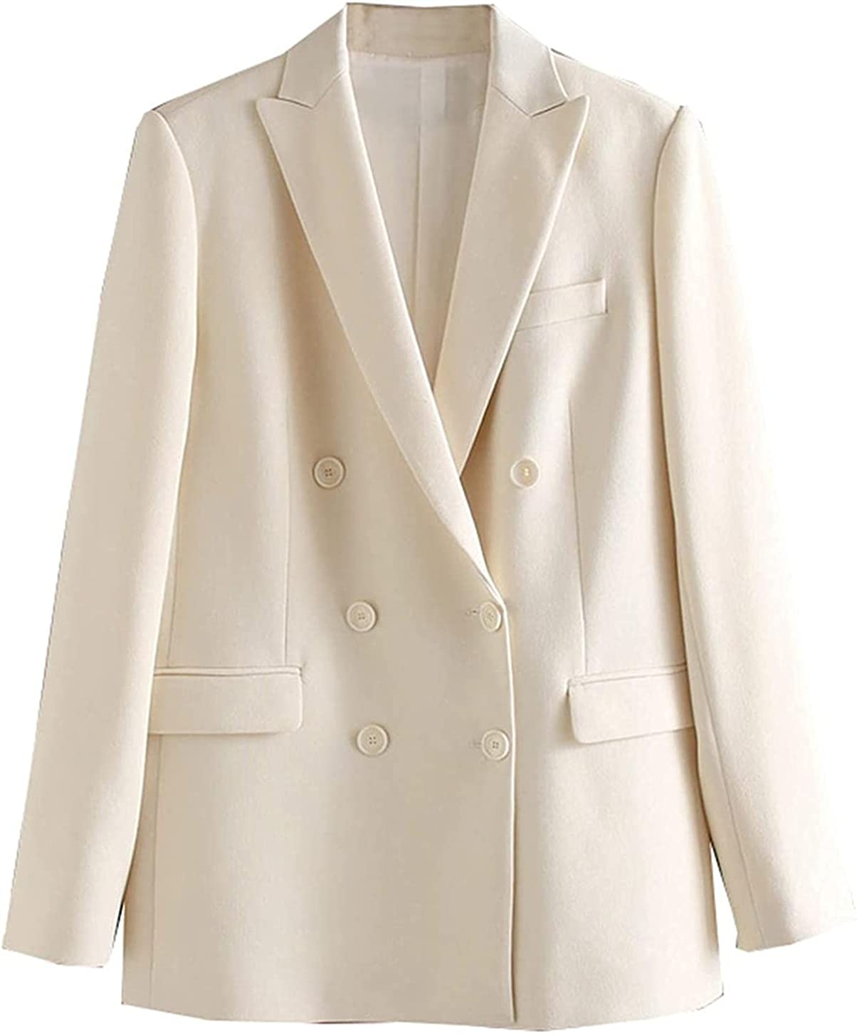 White Blazer for Woman Summer Blazer Double Breasted Jackets Lad