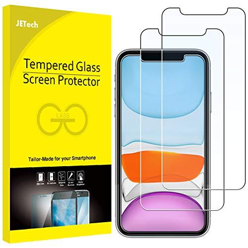 JETech Protector de Pantalla Compatible iPhone 11 y iPhone XR 6,1', Vidrio Templado, 2 Unidades