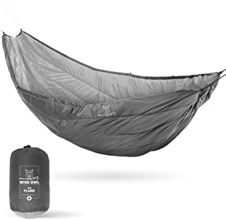 Wise Owl Outfitters Hammock Underquilt for Single & Double Camping Hammocks, Warm 4 Season - Winter Quilt