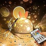 Proiettore Bambini Luce Notturna LED Musica Baby Stelle Lampada con 360° Rotazione Musica...