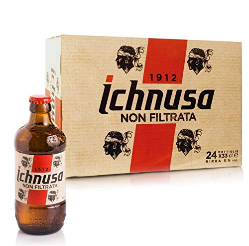 BIRRA ICHNUSA NON FILTRATA - Cartone da 33 CL (24 Bottiglie)