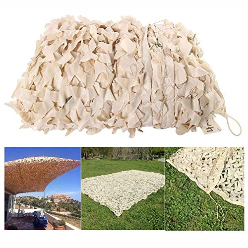 Camouflage Net Camping en Plein Air Plantes De Jardinage Couverture De Voiture Décoration Ombrage Maille Crème Blanc