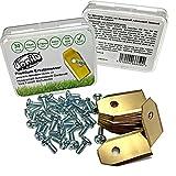 DONILU® 30 cuchillas de repuesto de titanio [2020] en caja para Husqvarna Automower, Gardena, Yard Force, McCulloch, robot cortacésped, accesorios para cortacésped