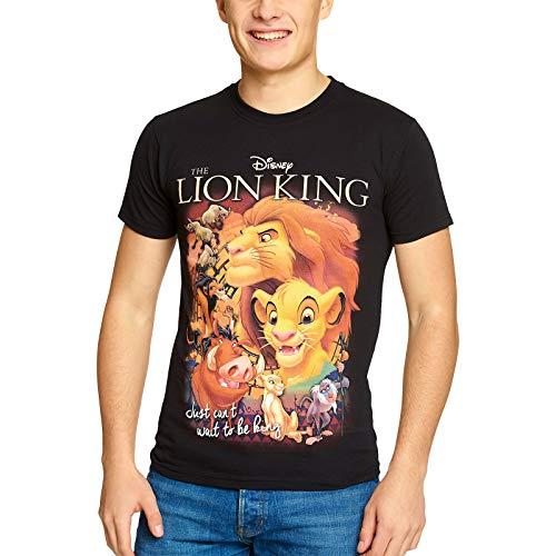 König der Löwen Disney Herren T-Shirt Film Poster Elbenwald Baumwolle schwarz - M