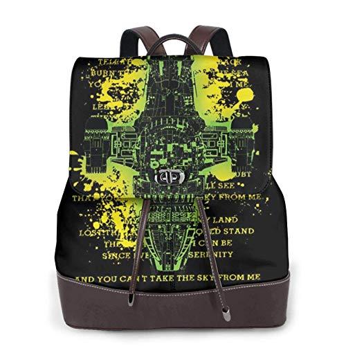 Serenity Quote Firefly Take My Love Women's Bapack, College Girl School Bag, Ladies Travel Bapack, Ladies Leather Bapack