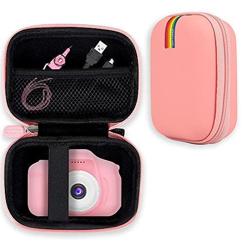 Custodia protettiva per fotocamera per bambini Leayjeen, adatta per GlobalCrown, vatenick, YunLoneFaburo regalo per fotocamera per bambini 3-10 anni (solo custodia protettiva) rosa