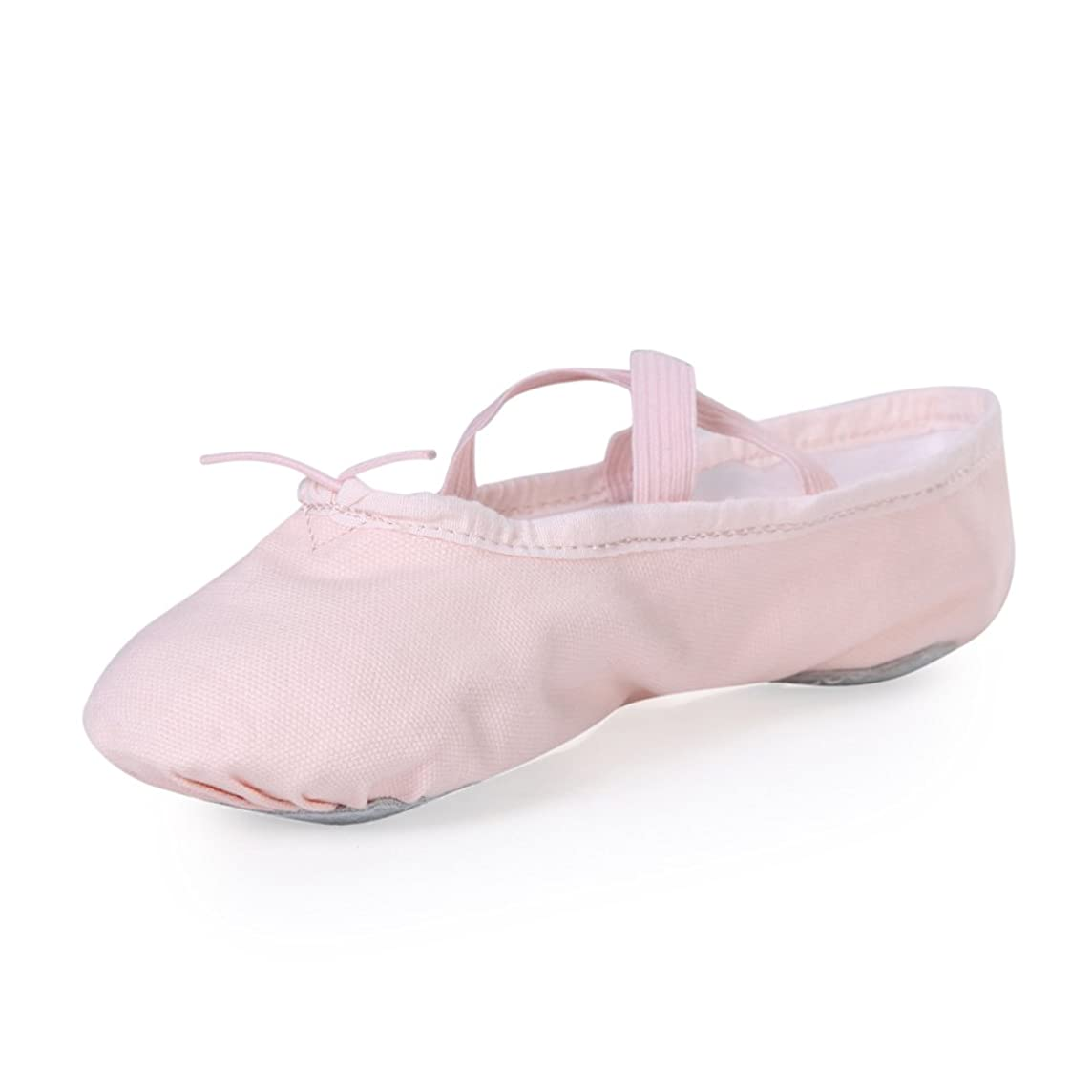 STELLE Girls Canvas Ballet Slipper/Ballet Shoe/Yoga Dance Shoe (Toddler/Little Kid/Big Kid/Women/Boy)