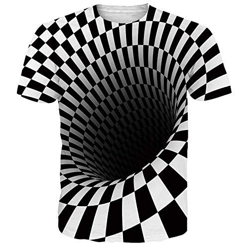 Idgeatim Herren T-Shirt 3D Drucken Bunte Rauch Casual T-Shirts Casual Kurzarm T-Shirts