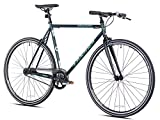 Takara Yuugen Single Speed Flat Bar Fixie Road Bike, 700c, Large, Green
