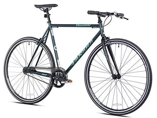 Takara Yuugen Single Speed Flat Bar Fixie Road Bike, 700c, Large